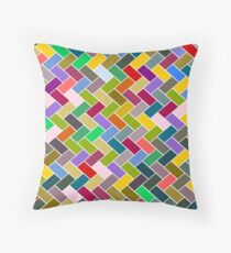 Colourful Mosaic Repeating Pattern Throw Pillow