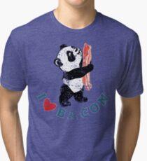 I Love Bacon - Panda Tri-blend T-Shirt