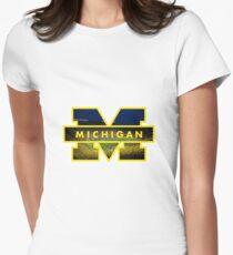 michigan stadium Women's Fitted T-Shirt