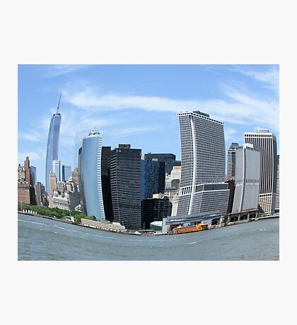 Fish Eye Lower Manhattan Photographic Print