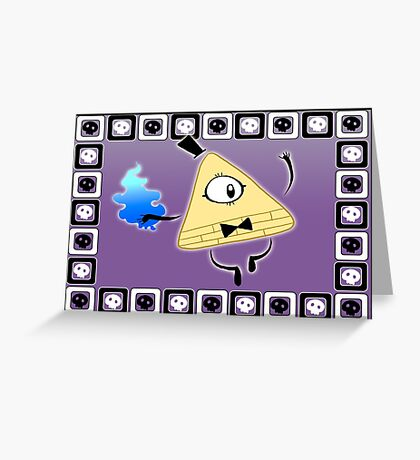 Bill Cipher Greeting Card