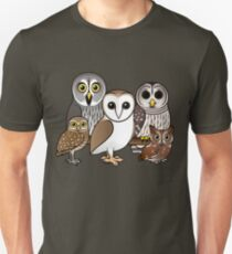 Five Cute Owls by Birdorable Unisex T-Shirt