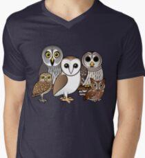 Five Cute Owls by Birdorable Men's V-Neck T-Shirt