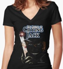The Ballad of Crying Jack Women's Fitted V-Neck T-Shirt
