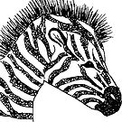 zebra by thedoodlejournal shop
