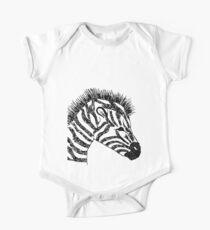 zebra Short Sleeve Baby One-Piece