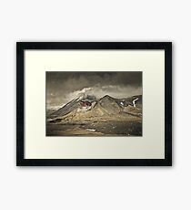 Red Crater & Mt Ngauruhoe Framed Print