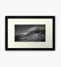 Volcano Clouds Framed Print