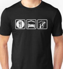 Funny Gambling Addict Eat Sleep Gamble T-Shirt