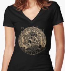 Night Spores Women's Fitted V-Neck T-Shirt