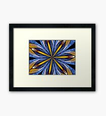 Stained Glass Kaleidoscope Mandala 1 Framed Print