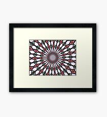 Stained Glass Kaleidoscope Mandala 2 Framed Print
