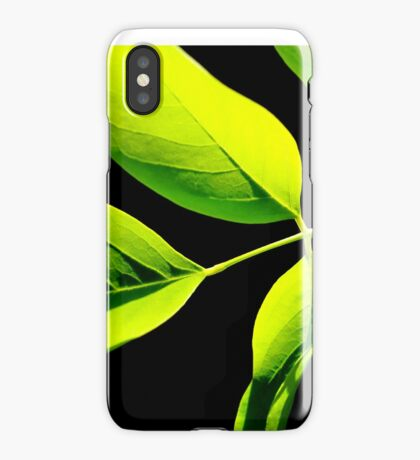 Lime Green on Black iPhone Case/Skin