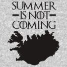 Summer is NOT coming - iceland(black text) by Herbert Shin