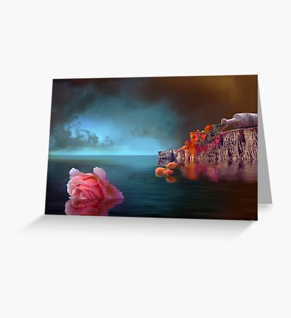 Calm Flowers Greeting Card
