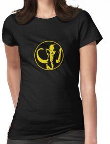 Mighty Morphin Power Rangers Black Ranger Symbol Womens Fitted T-Shirt