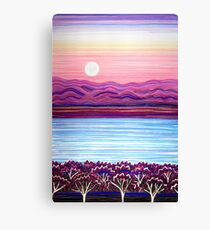 PERFECT PASTELS - Sunset Moon Canvas Print