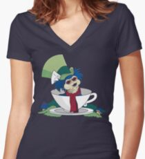 A Nice Cup of Tea Women's Fitted V-Neck T-Shirt