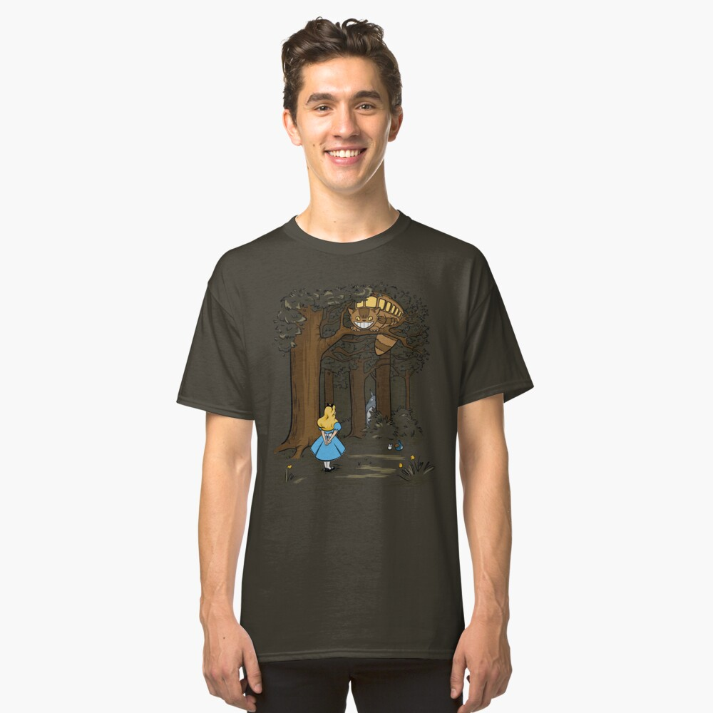 My Neighbor in Wonderland (Army) Classic T-Shirt Front