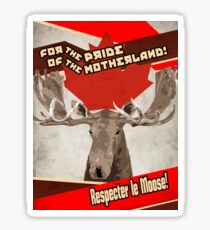 Respect The Moose Sticker