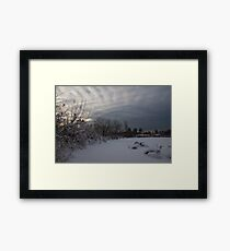 Clearing Snowstorm Framed Print