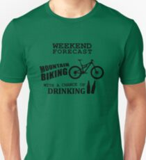 Funny Mountain Bike and Drinking Unisex T-Shirt