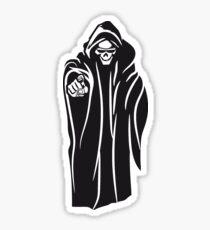 Death hooded evil sunglasses Sticker