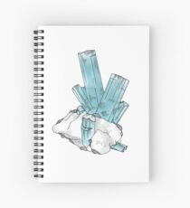 Aquamarine Gemstone Spiral Notebook