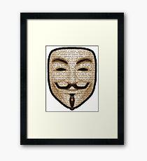 Anonymous - V for Vendetta Framed Print