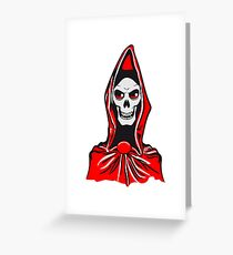 Death hooded robe evil Greeting Card