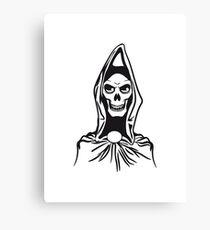 Death hooded robe evil Canvas Print
