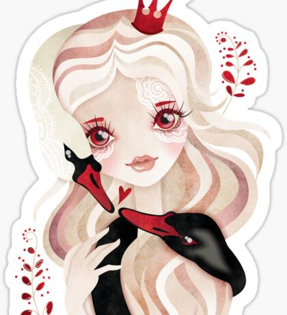 Swan Princess Sticker