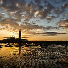 Low Tide Sunrise at the Lighthouse by John Dunbar
