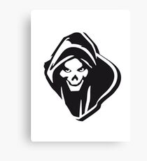 Death hooded evil creepy Canvas Print