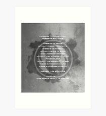 The Gray Jedi Code  Art Print