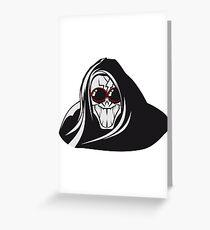 Death hooded evil creepy sunglasses Greeting Card