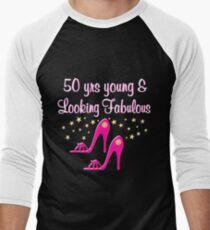 50 YEAR OLD SHOE QUEEN Men's Baseball ¾ T-Shirt