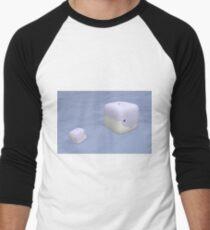 Cube Whale Blue Whale Men's Baseball ¾ T-Shirt