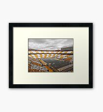 Bleed Orange and White Framed Print