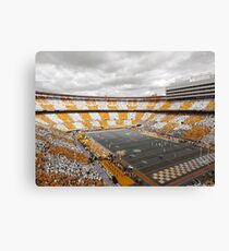 Bleed Orange and White Canvas Print