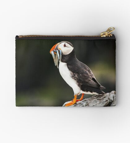 Puffin with Sandeels Studio Pouch