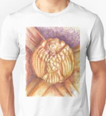 a bird in the Monastery. Anthropomorfism. vault keystone Unisex T-Shirt