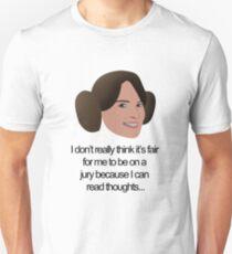 Liz Lemon Princess Leia Unisex T-Shirt