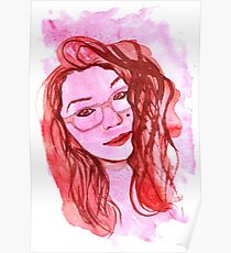 Amanda Alvear Watercolor Portrait Poster