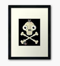 Skull & Rats Framed Print