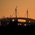 Sunset over the West Gate Bridge by Glenn Bumford