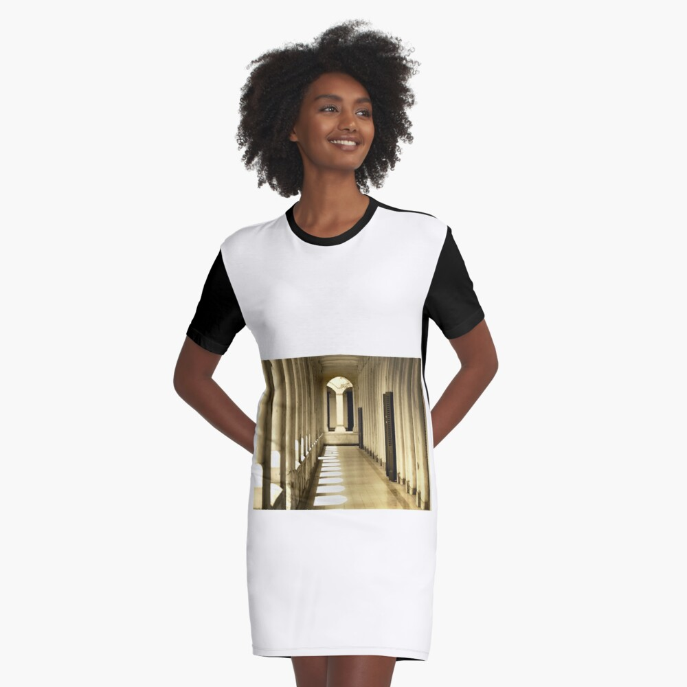 Corridor In The Old Building Graphic T-Shirt Dress Front