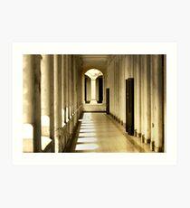 Corridor In The Old Building Art Print