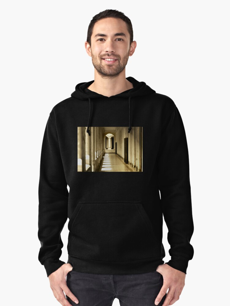 Corridor In The Old Building Pullover Hoodie Front