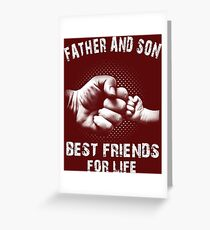 Father And Son - Father's Day Greeting Card